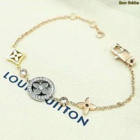 LV Louis Vuitton Newest Fashion Women Delicate Stainless Steel Bracelet