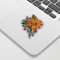 Watercolor sunflower Sticker by Angela Minca