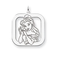 Disney's Sterling Silver Belle Square Charm