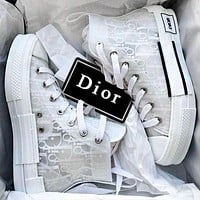 Dior B23 High-Top Sneakers Shoes White