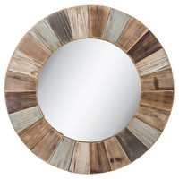 Round Wood Wall Mirror | Hobby Lobby | 1312305