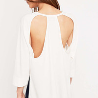 Light Before Dark Cut Out Back Top - Urban Outfitters