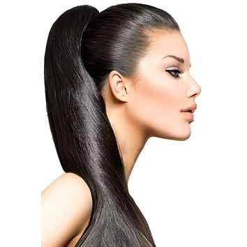 """16"""" Clip In Hair Extensions: No 1B Off Black"""