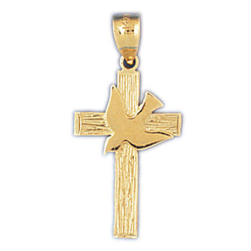 14K GOLD RELIGIOUS CHARM - SMALL CROSS #8266