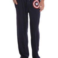 Marvel Captain America Logo Guys Pajama Pants