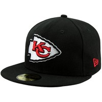 New Era Kansas City Chiefs Solid 59FIFTY Fitted Hat - Black