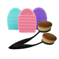 1Set Brush Egg Cleaner Oval Brush Makeup Set Kit Toothbrush Foundation Make up Brushes Cleansing Brushegg Finger Glove Tools