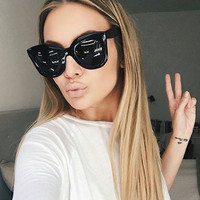 MADELINY 2017 New Fashion Big Frame Style Women Sunglasses Brand Designer Luxury Cat Eye Sun Glasses Shades Oculos De Sol MA216