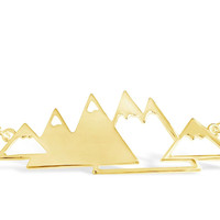 Geometric Mountain Range Necklace for Outdoor Lovers, Skiers and Hikers