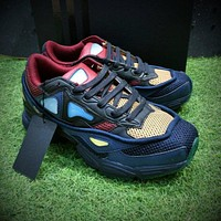 Raf Simons x Adidas Consortium Ozweego 2 III Retro Sport Smart Running Shoes Grey Blue Red Trainers Shoes B26077