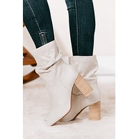 Strut Like You Mean It Slouch Booties (Stone)