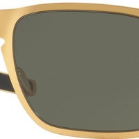 Oakley Mens Holbrook Metal Sunglasses, Gold Satin/Dark Grey, One Size