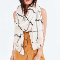 Flannel Plaid Frayed Scarf - Urban Outfitters