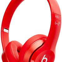 Beats Solo 2 WIRED On-Ear Headphone NOT WIRELESS - Red (Certified Refurbished)
