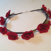 the juju flower crown (red)
