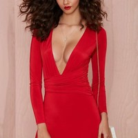 Nasty Gal Alina Dress - Red