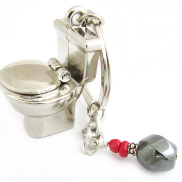 Plumber's Toilet Keychain for Him
