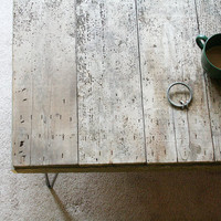 modern reclaimed wood coffee table with hairpin legs XL