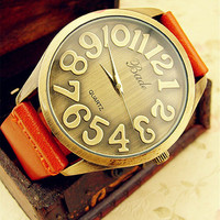 Fashion Watch with Genuine leather Belt from unusual