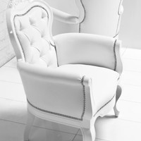 www.roomservicestore.com - Cannes Chair in White Faux Leather