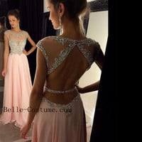 Long Prom Dresses 2016, Open Back Prom Dresses, 2016 Evening Dress