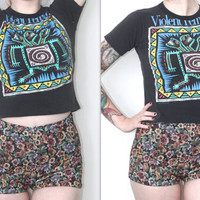 Vintage 90s Band Tee // Violent Femmes 91 Tour Shirt // Crop Top // XS Extra Small / Small