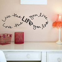 Live the life you Love.. Bob Marley Infinity Quote Vinyl Wall Decal Sticker Art