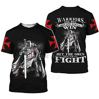 All Over Printed Knights Templar 3d T Shirts Tshirt Tees Winter Autumn Funny Harajuku Short Sleeve Streetwear