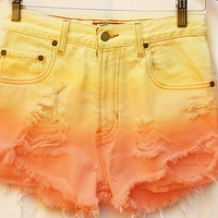 The Sunrise Gradient Shorts from ShopWunderlust