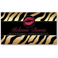 Chic Cosmetology Business Card from Zazzle.com