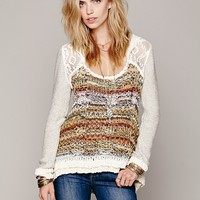 Free People Lace Hood Pullover