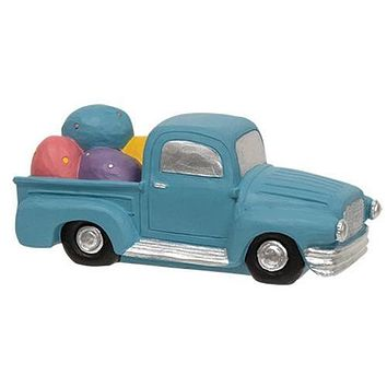 Blue Resin Truck With Easter Eggs