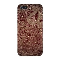 Brown Paisley Pattern Hard Case Cover iPhone 5C