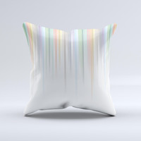 Faded Pastel Color-Stripes ink-Fuzed Decorative Throw Pillow