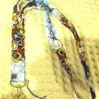"Thick Blue Kingdom of Hearts 15"" Lanyard/Landyard ID Holder Keychain-New!"