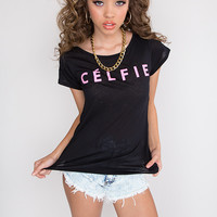 My Celfie Is Better Than Yours Top - Black