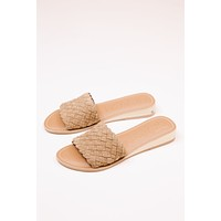 Pipeline Woven Leather Sandal, Tan Suede | Beach by Matisse