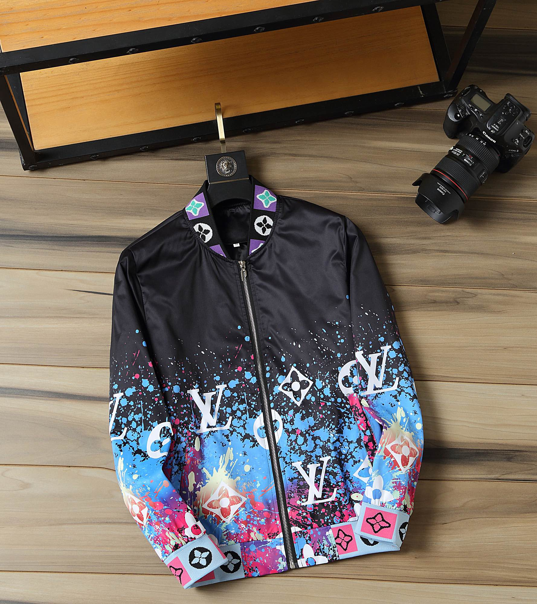 Image of LV Louis Vuitton Fashion Casual Loose Hooded Cardigan Jacket Coat