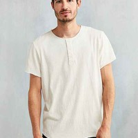 Feathers Raw Nubby Henley Tee