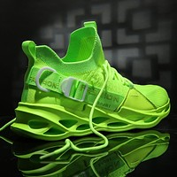 Men Sneakers Black Mesh Breathable Running Sport Shoes Male Lace Up Non-slip Men Low Athletic Women Sneakers Casual Mens Shoes