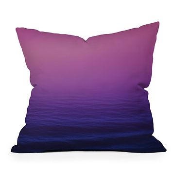Leah Flores Sunset Waves Throw Pillow