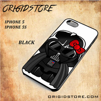 Anakin Skywalker Darth Vader Hello Kitty Star Wars Black White Snap On 3D For Iphone 5/5S Case