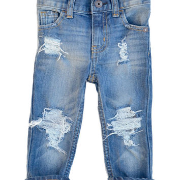 Riptight Skinny Jeans, Unisex, Custom Distressed Denim, Boy, Girl, Baby, Toddler