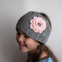 Gray Girls Crochet Headwrap