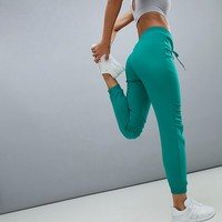 South Beach Knee Detail Joggers In Green at asos.com