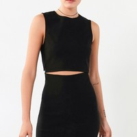 Lucca Couture Twill Slash-Waist Mini Dress