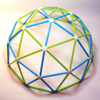 Geodesic Dome Kit, Geodesic Toy Puzzle, Kids Lattice Toy, 3D Printed Geodome Puzzle, Polygon Craft, Toy Challenge, Ages 4 Plus