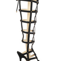Jimmy Choo Mogul studded suede cage sandals – 49% at THE OUTNET.COM