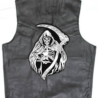 Reaper with Sand Clock Large Back Patch