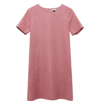 Simple Shift Dress Pink - THE WHITEPEPPER